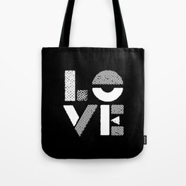 Love black and white contemporary minimalist typography design home wall decor bedroom Tote Bag