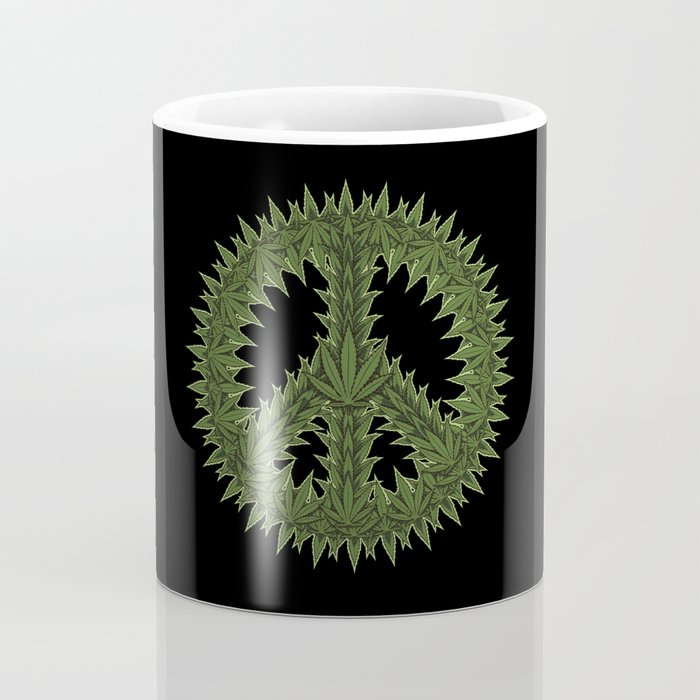 Weed Peace Sign - Marijuana THC CBD Stoner Coffee Mug