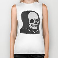chill Biker Tanks featuring chill death by Alex DeSpain