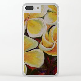Island Blooms Clear iPhone Case