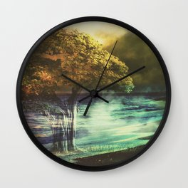 Even the darkest night will end and the sun will rise Wall Clock