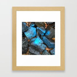 NVSV SPCS_blue rocks Framed Art Print