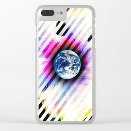 WORLD TURNS Clear iPhone Case