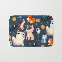 Cat Print Bath Mat