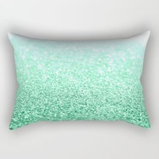 seafoam green glitter Rectangular Pillow