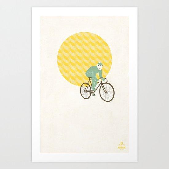 Stache with Sunrise Art Print