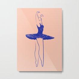Blue Dancer 2 Metal Print
