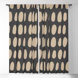 Brush Strokes Gold Blackout Curtain