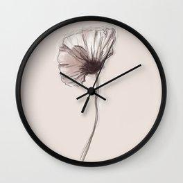 Pastel pink flower Wall Clock