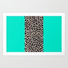 Leopard National Flag II Art Print