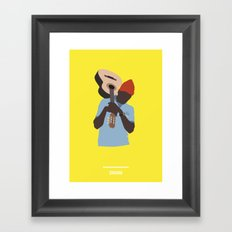 ZISSOU ( The Life Aquatic ) Framed Art Print