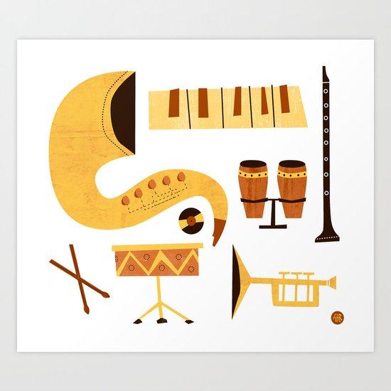 Jazz! Art Print