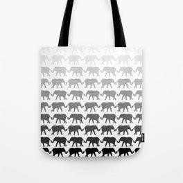 Circle of peace B/W Tote Bag
