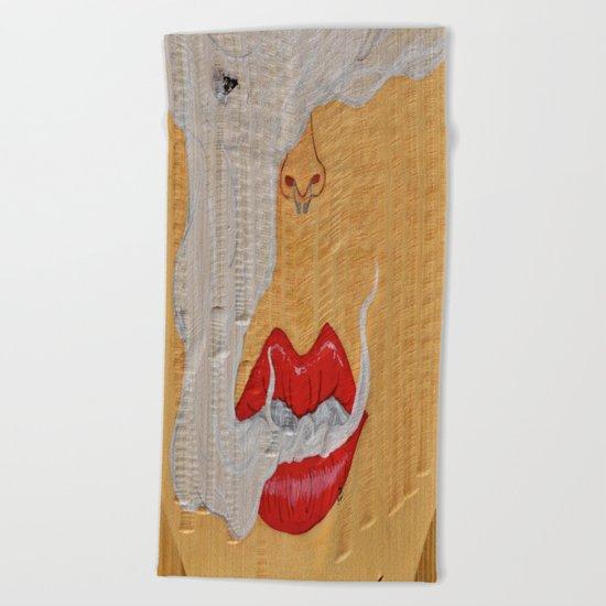 Puff - Smoking Lady Series Beach Towel