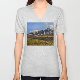 Looking at a Volcano Unisex V-Neck