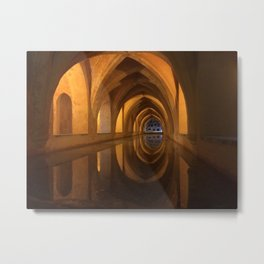 Baths of the Alcazar, Seville Metal Print