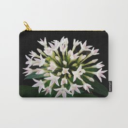 White Pentas Carry-All Pouch