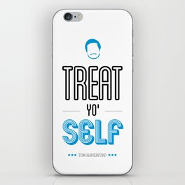 Tom Haverford, Typography Print, Parks and Recreation, TV Quote, Television - Treat Yo Self iPhone Skin