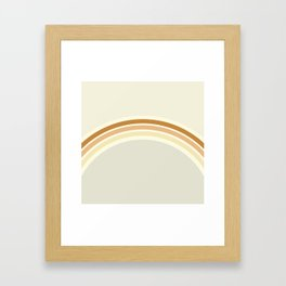 one day – earthen clay layers Framed Art Print
