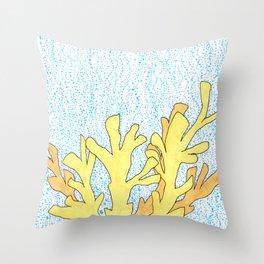 Elkhorn Coral Throw Pillow