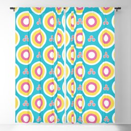 Abstract dotty target circles. Blackout Curtain