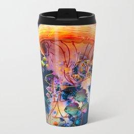 Electric Jellyish World Metal Travel Mug