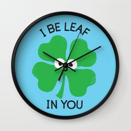Cloverwhelming Support Wall Clock