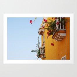 cartagena colors Art Print