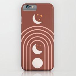 Midcentury Moon Phase Rainbow iPhone Case