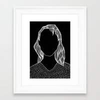 poker Framed Art Prints featuring Poker Face by Laura Moreau