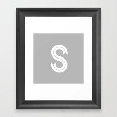 THE LETTER S Framed Art Print