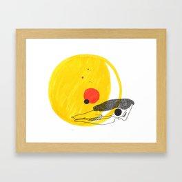 Desert Sun Skeleton Framed Art Print