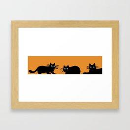 Black Cat(s) Framed Art Print