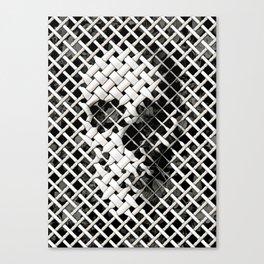 Wicker Skull Canvas Print