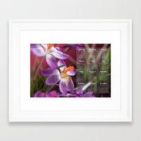 calendar Framed Art Prints featuring Calendar 2016 by Le Arcara