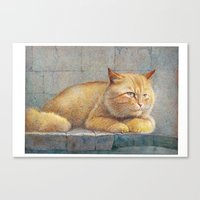 ginger Canvas Prints featuring Ginger by irshi