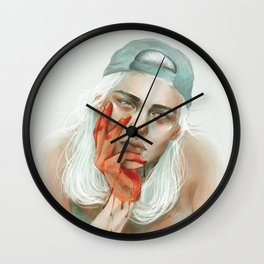 hold my dark thoughts Wall Clock