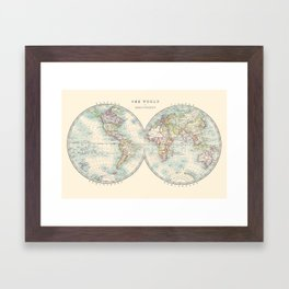 Hemispheres Framed Art Print