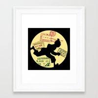 tintin Framed Art Prints featuring Run Tintin, Run by ikado