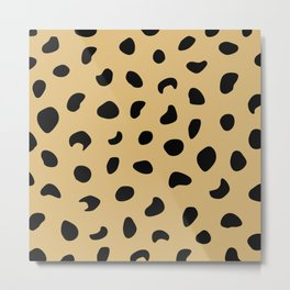 Leopard Print - Warm Neutral Metal Print