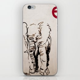 E is for Elephant iPhone Skin