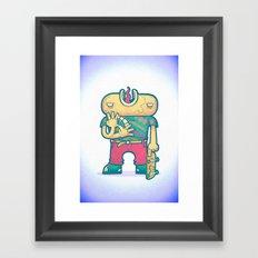 brain free Framed Art Print