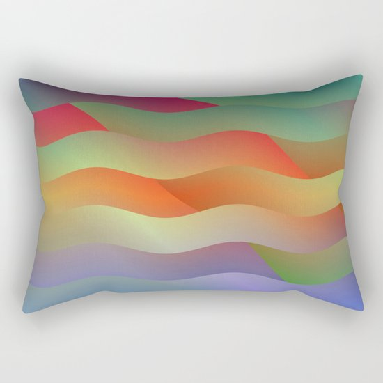 Red Mountain Mist Rectangular Pillow