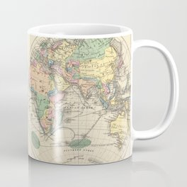 Vintage Map of The World (1872) Coffee Mug