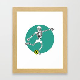 Calavera Soccer Framed Art Print