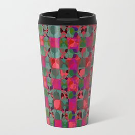 Mid Century Geometry Electric Pink Travel Mug