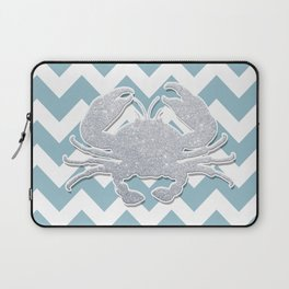 Silver Crab Laptop Sleeve