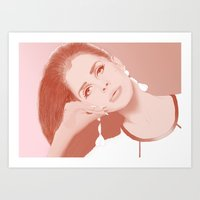lana Art Prints featuring LANA by Itxaso Beistegui Illustrations