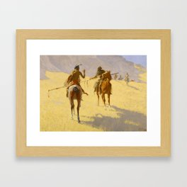 "Frederic Remington Western Art ""The Parley"" Framed Art Print"