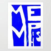 memphis Art Prints featuring MEMPHIS by John Weeden